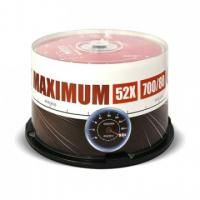 Диск CD-R Mirex 700 Mb, 52х, Maximum, Cake Box (50), (50/300)