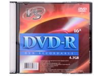 Диск DVD-R VS 4.7 Gb, 16x, Slim Case (5), (5/200)