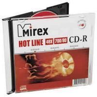 Диск CD-R Mirex 700 Mb, 48х, HotLine, Slim Case (1), (1/200)