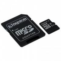 Флеш карта microSD 16GB Kingston microSDHC Class 10 UHS-I U1 Canvas Select (SD адаптер) 80MB/s