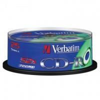 Диск CD-R Verbatim 700 Mb, 52x, Cake Box (25), DL (25/200)